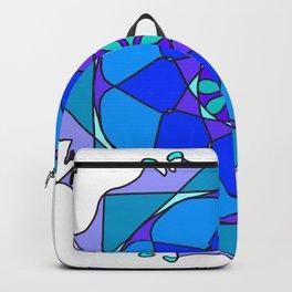 blue star mandala Backpack