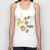 lotus flower Tank Tops featuring Lotus by Ferntree Studio