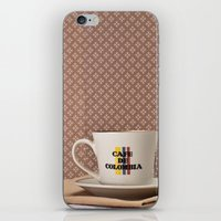 colombia iPhone & iPod Skins featuring Café de Colombia  by Caroline Mint