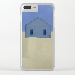 Beach Cottages, colorful houses, coastal, row houses Clear iPhone Case