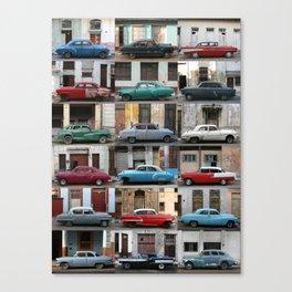 Cuba Cars - Vertical Canvas Print