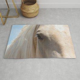 Palomino Horse Face Rug