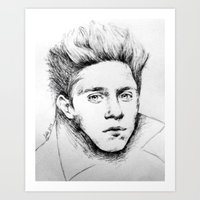 niall Art Prints featuring Niall Drawing by Adele_F
