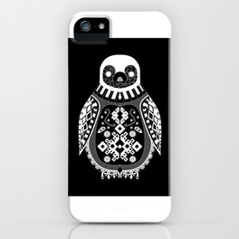 Black Penguin Ecopop iPhone Case