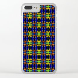 Gold Strands - Navy Blue Clear iPhone Case
