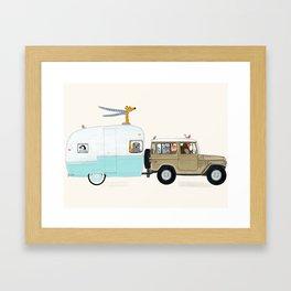 camping trip Framed Art Print