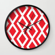 Red Diamond Wall Clock