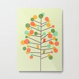 Happy Tree - Tweet Tweet Metal Print