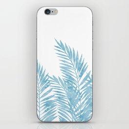 Palm Leaves Light Blue iPhone Skin