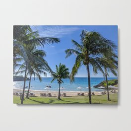 Tropical Beach in North Eleuthera, Bahamas #1 Metal Print