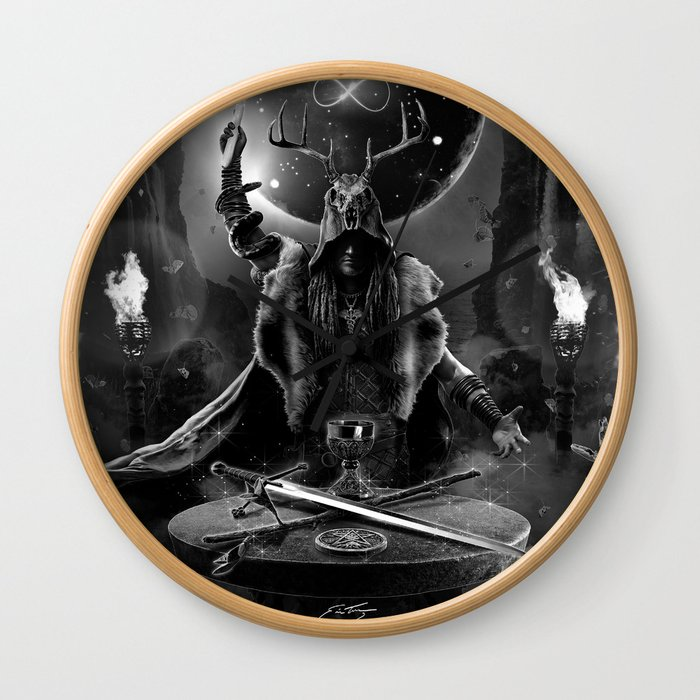 I. The Magician Tarot Card Illustration Wall Clock