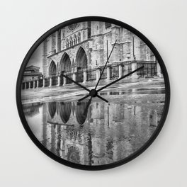 Leon Cathedral Reflection Wall Clock