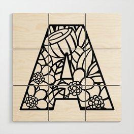Letter A Wood Wall Art
