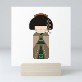Kawaii Country Kokeshi #3 - Folk Art Style Japanese Doll Mini Art Print