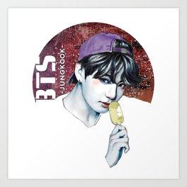 JUNGKOOK -BTS- Art Print