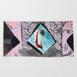 Dive deep into yourself Beach Towel