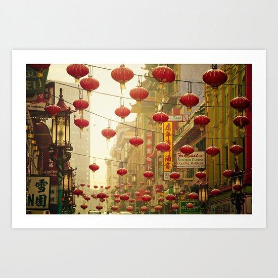 Land of 1000 Lanterns Art Print