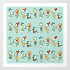 Candy girls Art Print