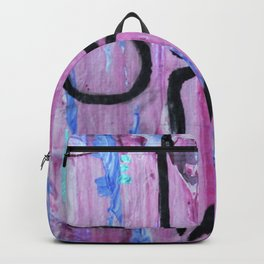 Extended Triangle pose abstract Backpack