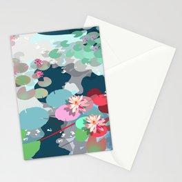 Aquatic garden Stationery Cards