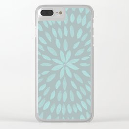 Mandala Flower #3 #mint #grey #drawing #decor #art #society6 Clear iPhone Case