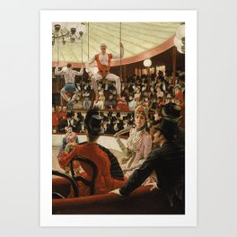 James Tissot - Women of Paris the circus lover Art Print