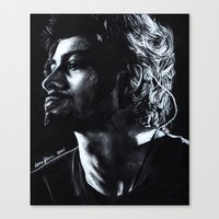 zayn Canvas Prints featuring Zayn by Luna Perri