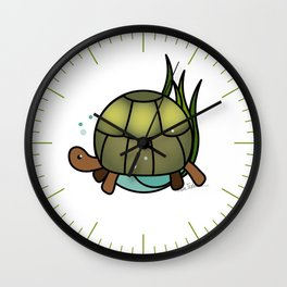 Turtle in a Circle Wall Clock