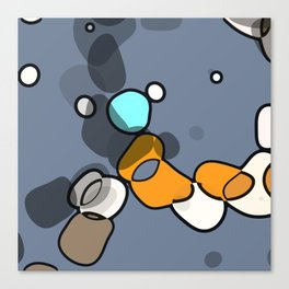 Dancing ob blue Canvas Print