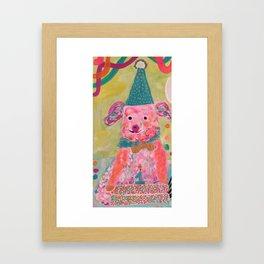 This little piggy just turned 1! Framed Art Print