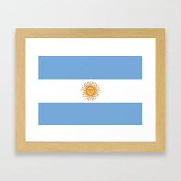 Flag of Argentina Framed Art Print