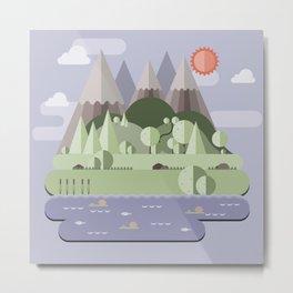 Nature landscape Metal Print