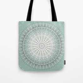 Mint Taupe Mandala Tote Bag