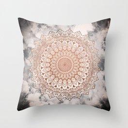 ROSE NIGHT MANDALA Throw Pillow