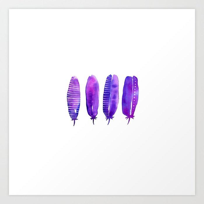 dreamy feathers 2.0 Art Print
