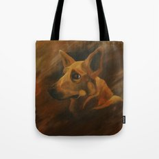 Native American Indian Dog Tote Bag