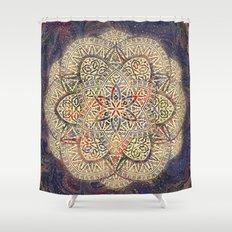 Gold Morocco Lace Mandala Shower Curtain