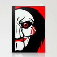 butcher billy Stationery Cards featuring Billy by Artistic Dyslexia
