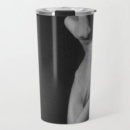 Nude Black & White Travel Mug