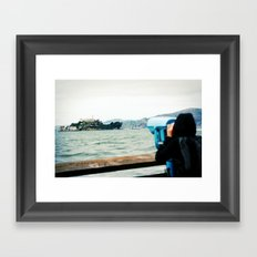 The View from Here: Alcatraz Framed Art Print