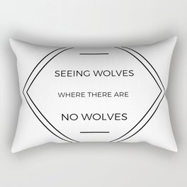 Seeing Wolves (Where There Are No Wolves) 07 Rectangular Pillow