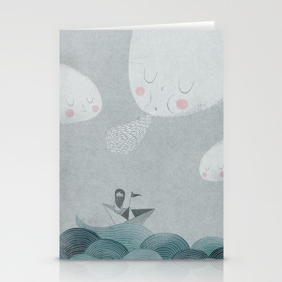 Blowing by the Wind Stationery Cards