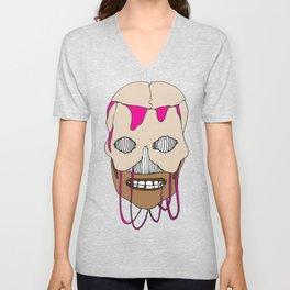 Skull Head Street Art Design Unisex V-Neck