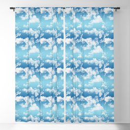 Cloudy Blue Sky Pattern Blackout Curtain