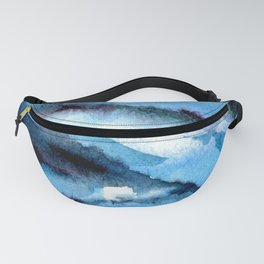 Blue marble. Fanny Pack