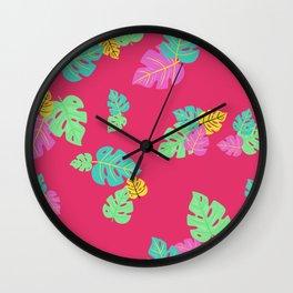 Baesic Tropic Leaves Wall Clock