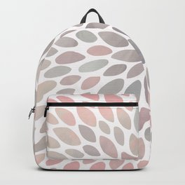 Festive, Flower Bloom, Coral and Gray, Floral Prints Backpack