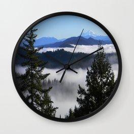 Bird's eye view of Mount Lassen.... Wall Clock