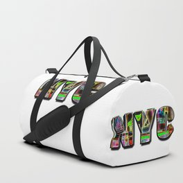 NYC (typography) Duffle Bag