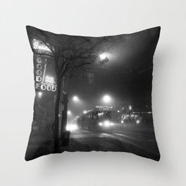 A Streetcar Named Noir Throw Pillow